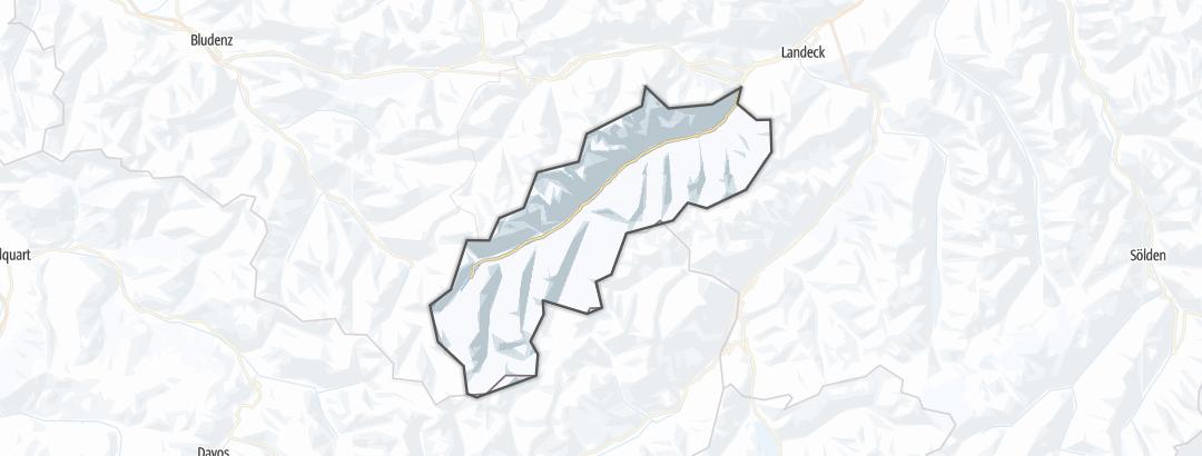 מפה / אתרי סקי ב Paznaun