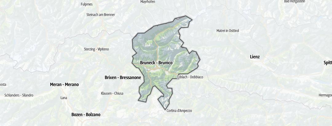 Mapa / Roteiros de escalada alpina em Kronplatz