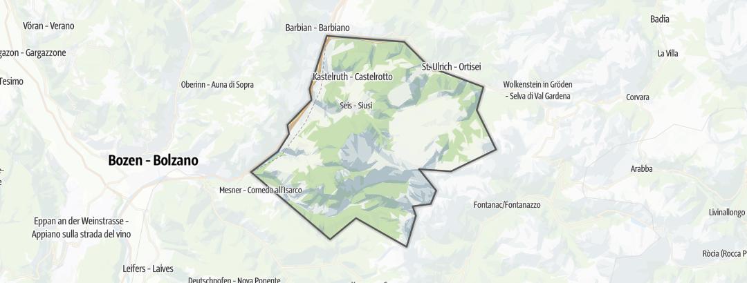 Hartă / Drumeții montane in Seiser Alm