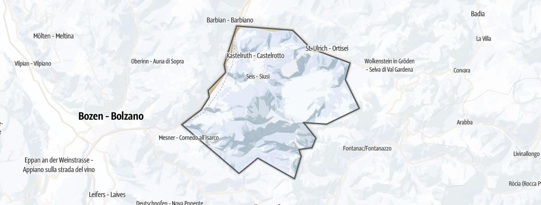 מפה / טיולי סקי רגליים בזייזר אלם בדולמיטים