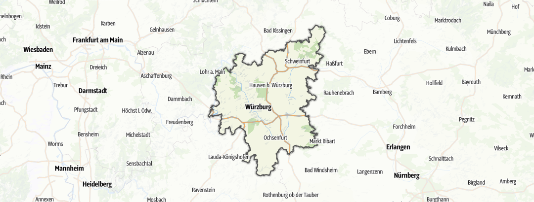 Map / Bike rides in the Franconian Wine Country