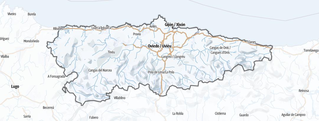 Kart / Vinteraktiviteter i Principality of Asturias