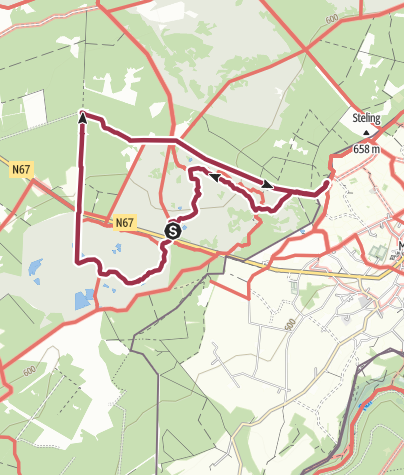 Karte / Venn (Brackvenn) - bei Mützenich