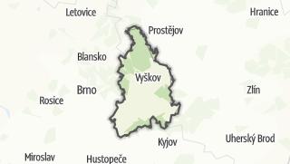 Hartă / Vyškov