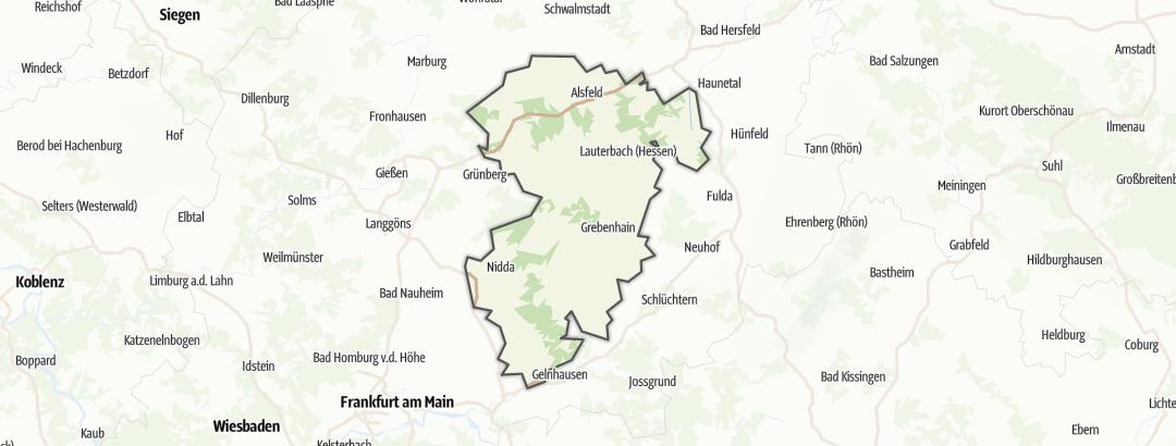 Mapa / Sitios históricos en Vogelsberg