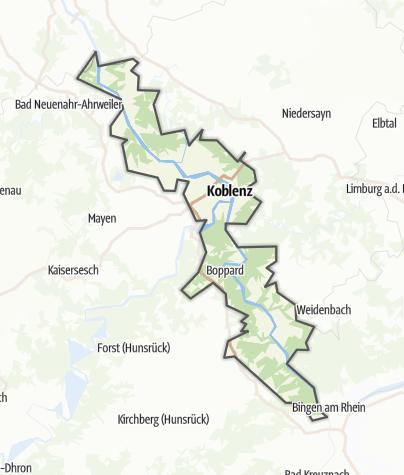 Karte / Romantischer Rhein