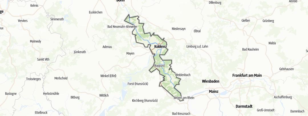 地图 / 在Romantischer Rhein里的住宿