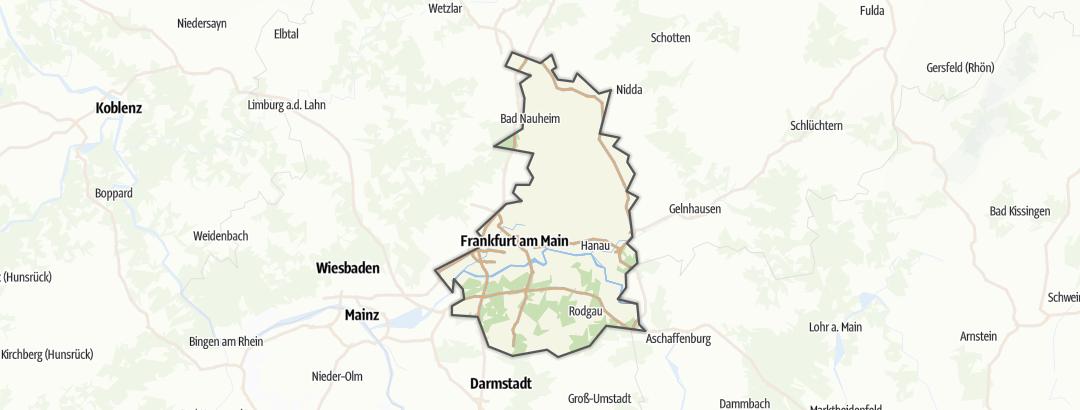 Mapa / Rutas de trekking en Frankfurt am Main und Umgebung