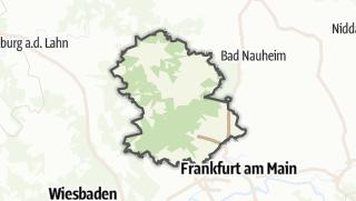 מפה / Hochtaunuskreis