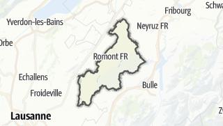 Karte / La Glâne