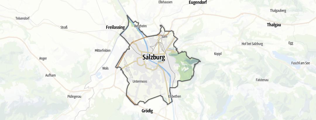 Карта / Ausflugsziele bei schlechtem Wetter в Salzburg