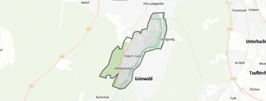 Karte / Wandern in Pullach im Isartal