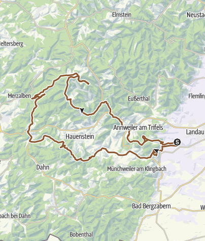 Karte / Madenburg-Trifels-Dicke-Eiche-Gräfenstein-Luitpoldturm-Annweiler-Trifels-Slevogthof