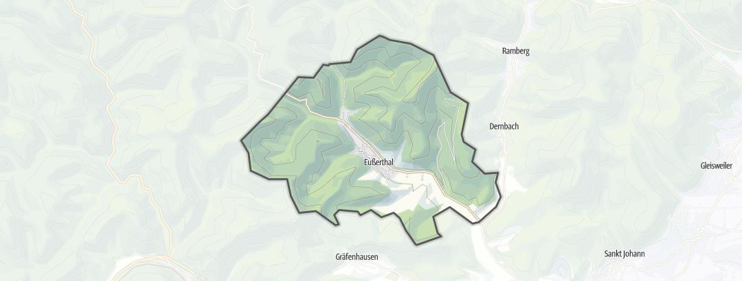 Karte / Wanderungen in Eußerthal