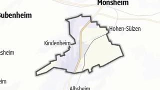 Mapa / Bockenheim an der Weinstraße