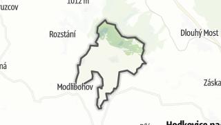 מפה / Prosec pod Ještedem