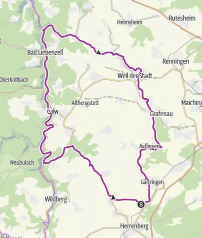 Karte / Nufringen - Monbachtal - Weil der Stadt - Nufringen