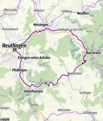 Karte / Reutlingen-Bad Urach-Alb-Reutlingen