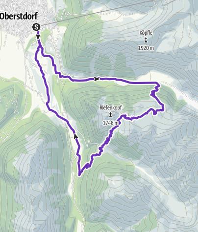 Karte / Oytal-Runde mit Hahnenköpfle