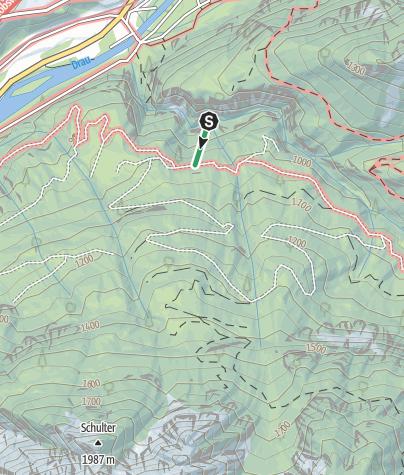 Karte / Dopamin Klettersteig in der Galitzenklamm