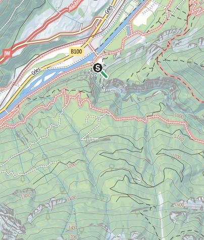 Karte / Familienklettersteig in der Galitzenklamm Lienz