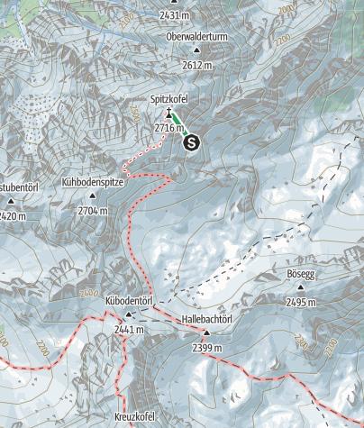 Karte / Spitzkofel Klettersteig