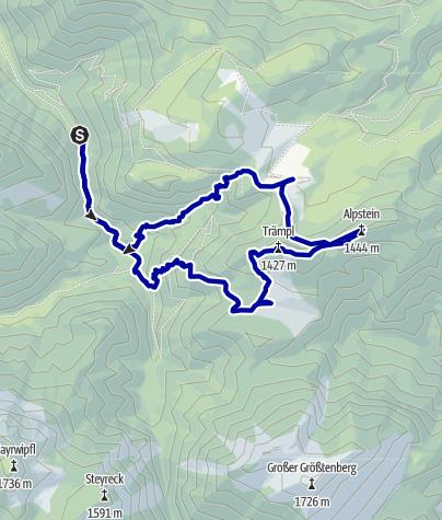 Karte / Vom Bodinggraben auf die Schaumbergalm und Ebenforstalm