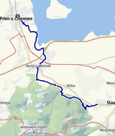 Karte / SalzAlpenSteig Etappe 1: Prien am Chiemsee - Grassau