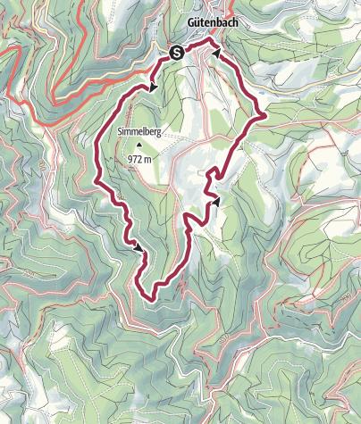 Karte / Rundweg um Guetenbach
