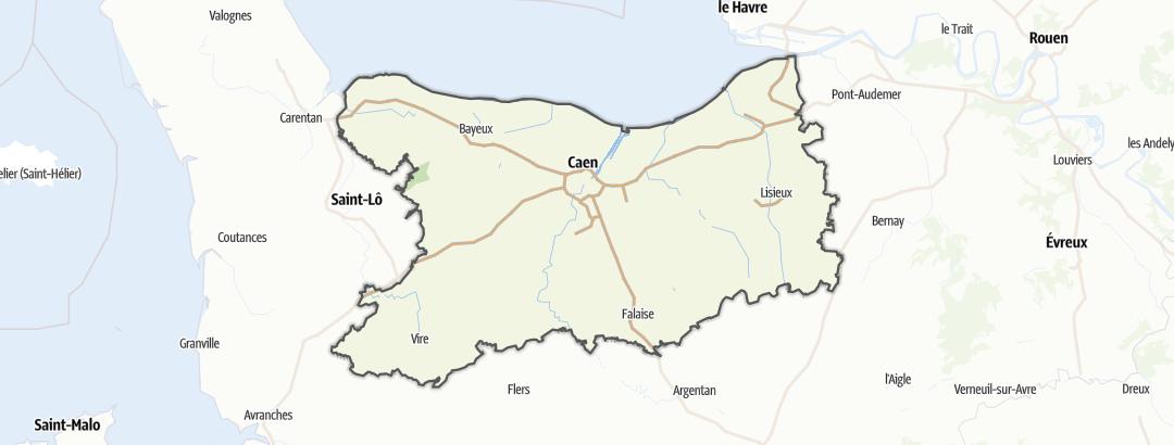Carte / Parcours VTT - Calvados