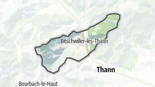 מפה / Bitschwiller-lès-Thann