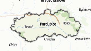 Mapa / Pardubice