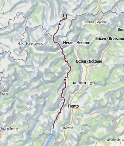Karte / Alpentour zum Gardasee