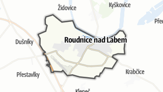 Map / Roudnice nad Labem