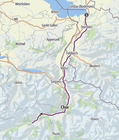 Mapa / Bregenz-Ilanz 07-2013