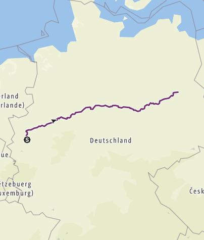 Mapa / Duesseldorf - Berlin (Fernradweg)