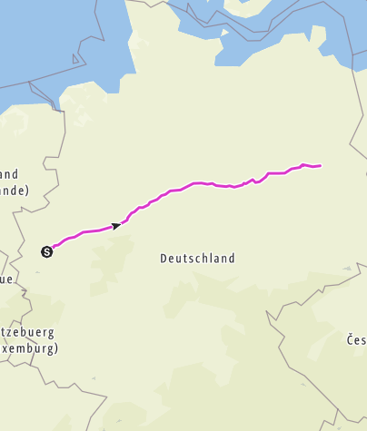 Kartta / Düsseldorf - Berlin (Rennrad)