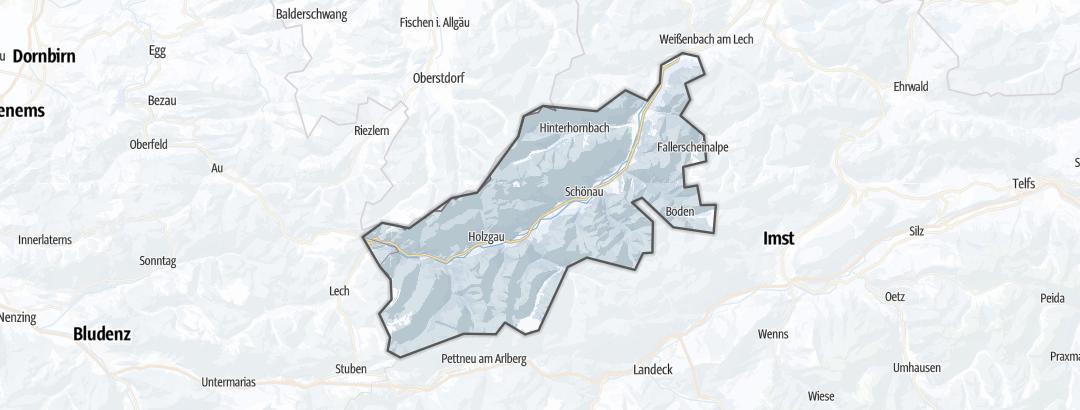 Mappa / Attivitá invernali in Lechtal