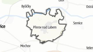 מפה / Prerov nad Labem