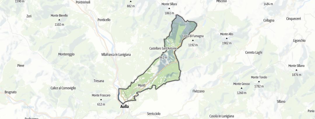地图 / 在Licciana Nardi里的朝圣路线
