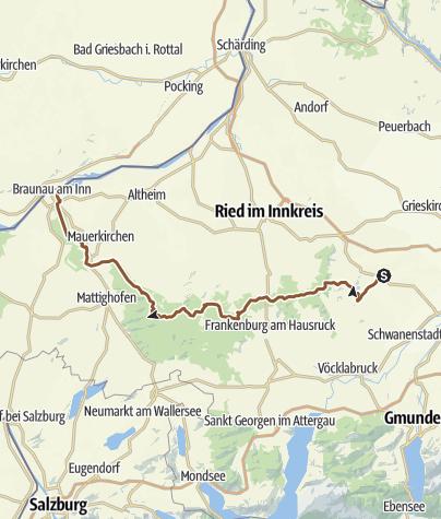 Mapa / Gaspoltshofen nach Braunau