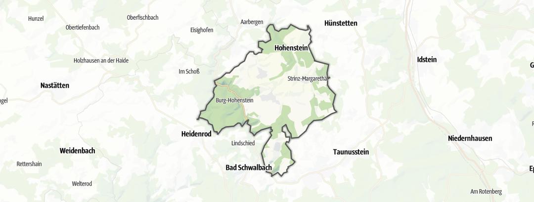 Mapa / Rutas de senderismo en Hohenstein