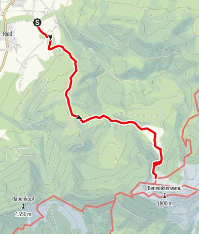 Karte / Tutzinger Hütte über Kohlstatt