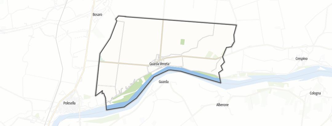 Karte / Wandern in Guarda Veneta