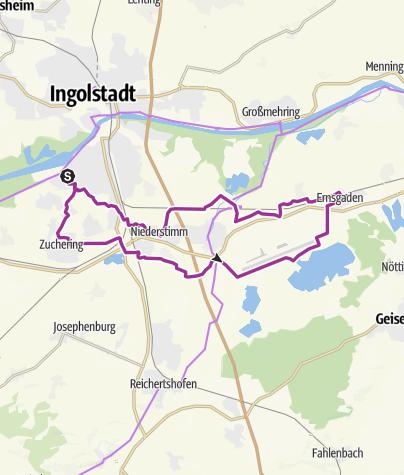 Karte / 02.07.2013 Ingoradler - Ingolstadt nach Ernsgaden
