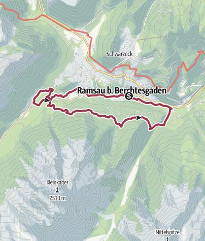 Karte / SalzAlpenTour - Ramsauer Schattseitweg