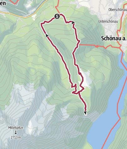 Karte / SalzAlpenTour - Kühroint - Archenkanzel - Schönau