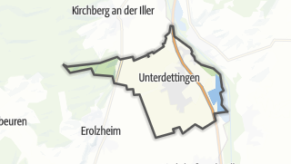 Cartina / Dettingen an der Iller