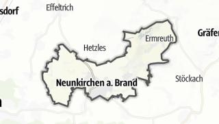 Cartina / Neunkirchen am Brand