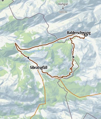 Karte / Balderschwang - Sättelerunde
